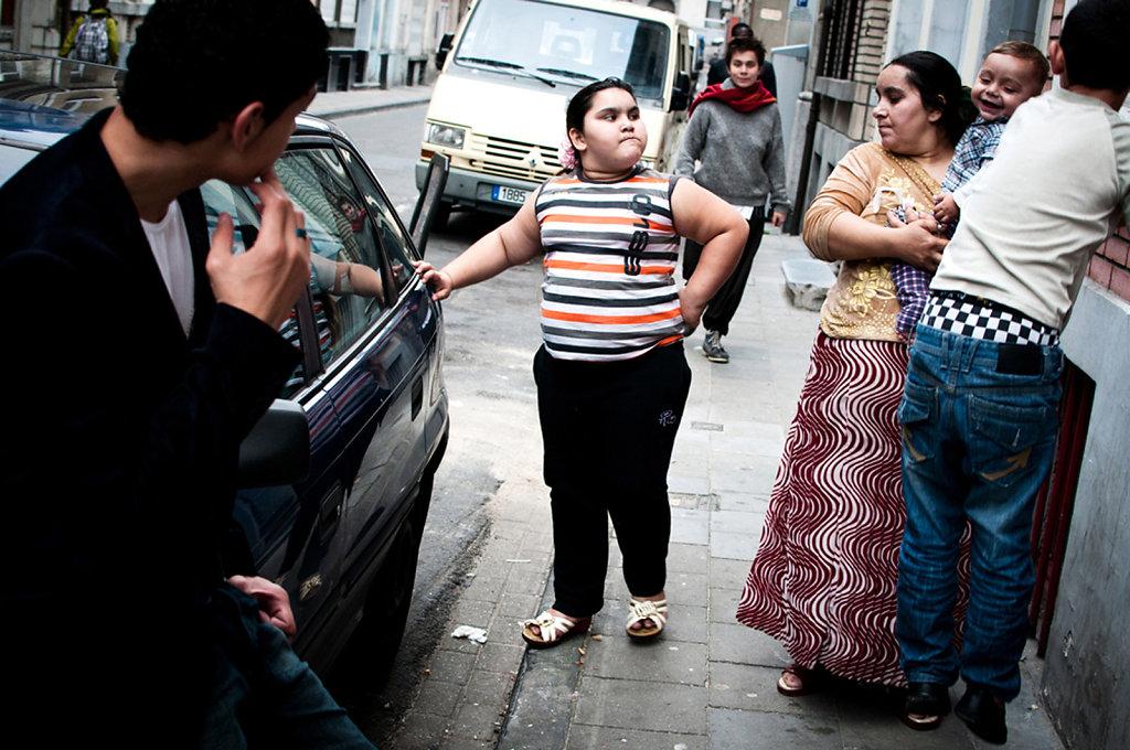 Une famille Rom à Bruxelles