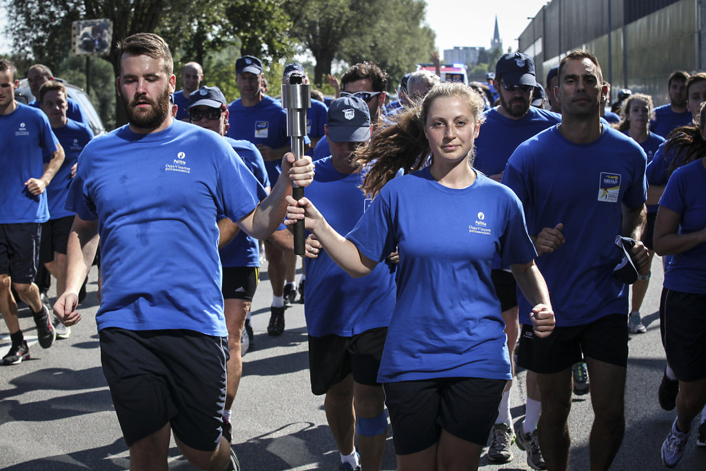 Torch run Special Olympics European Summer GAmes