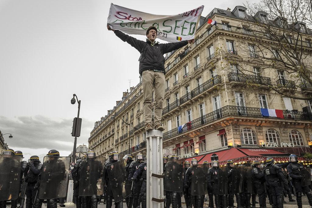 Ouverture de la COP21, République à l'étouffée.