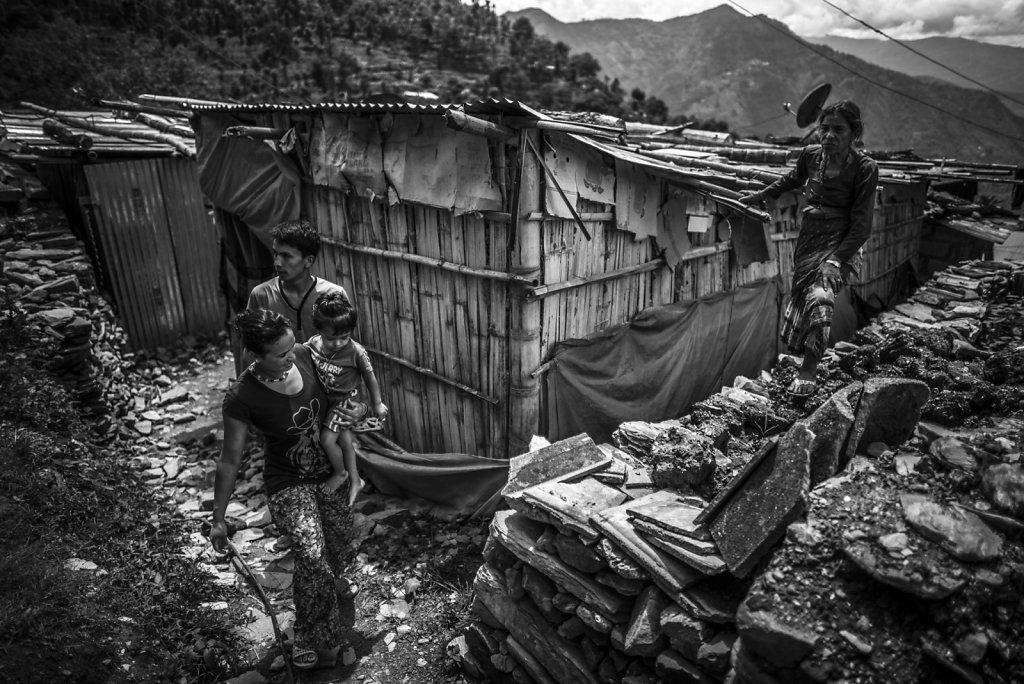 NEPAL DISTRICT SINDHUPALCHOK RECONSTRUCTION TREMBLEMENT DE TERRE