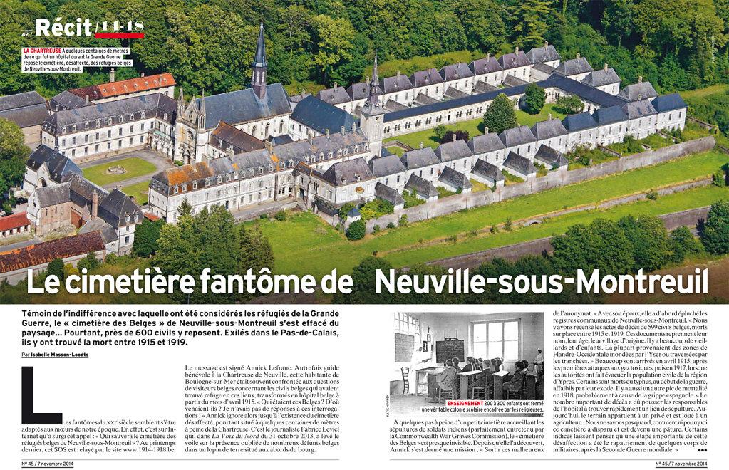 Le cimetière fantôme de Neuville-sous-Montreuil